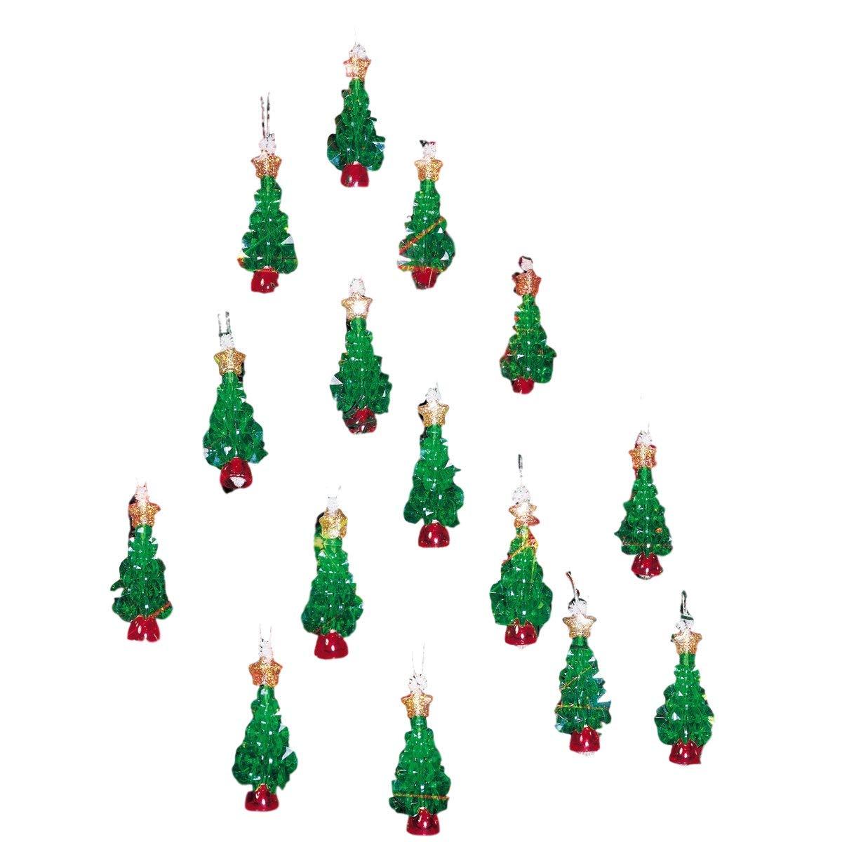 Beadery Holiday Beaded Ornament Kit, 2.25-Inch, Mini Trees, Makes 24 Ornaments BOK-5498
