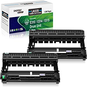 SINOPRINT Compatible Drum Unit Replacement for Dell E310 E514 E515 Drum for use in Dell E310dw E514dw E515dw E515dn Drum Unit (2 x Drum)- High Yield 12,000 Pages