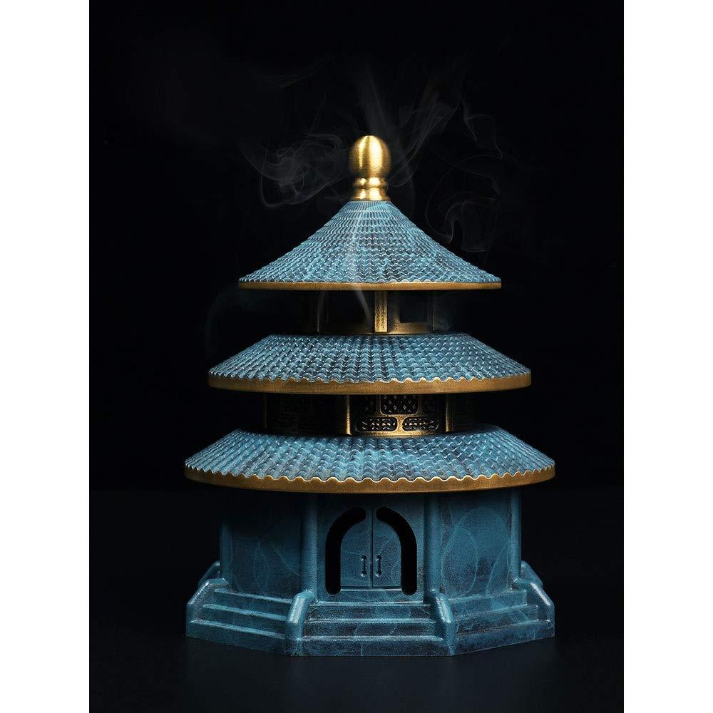 JYEMDV Vintage Incense Burner Pure Copper Antique Tower Household Censer Split Creative Aromatherapy Furnace by JYEMDV (Image #3)