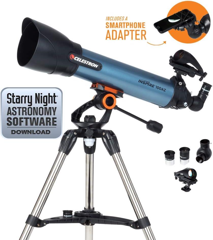 Celestron Inspire - Telescopio astronómico (100 mm de Apertura ...