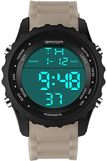 Sanda 369 Big Face Relojes Hombres táctico Deporte Digital ejército LED Militar cronómetro: Amazon.es: Relojes
