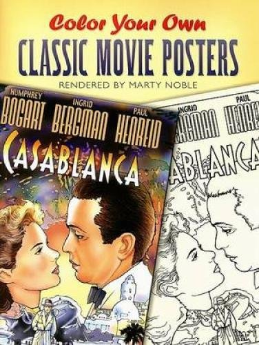 Color Your Own Classic Movie Posters (Dover Art