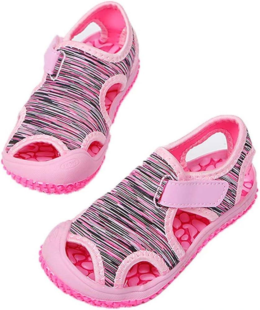 Sandalen/Kinder Sommer Schuhe Jungen M/ädchen Sandalen/Anti/Rutsch Atmungsaktiv Wandern Baby Sandalen/Halboffene Outdoor Strand Pink Violett Blau Grau Gr/ün EU 21-31