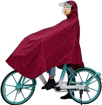 XGYUII Chubasquero Bicicleta Adulto Montar Sombrero Doble ...