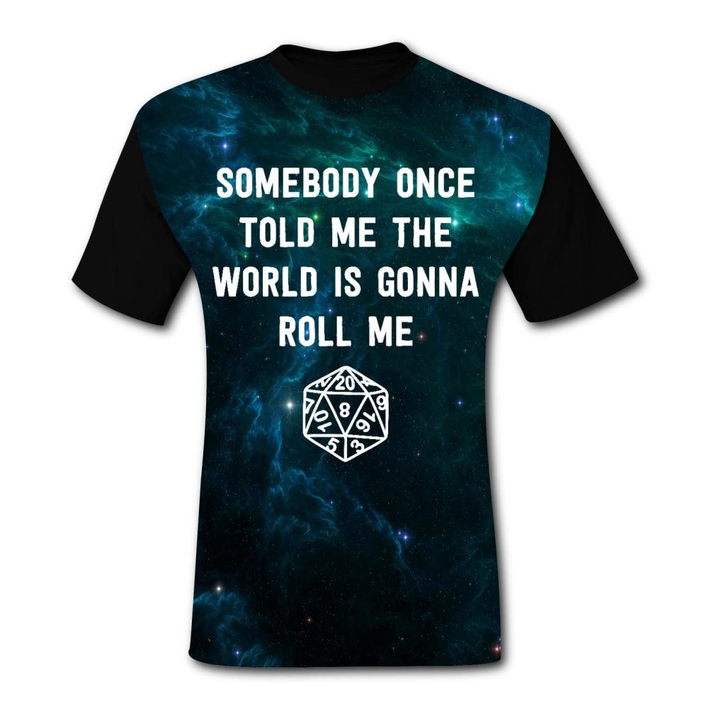 Aslgisy Somebody Once Told Me The World is Gonna Roll Me Casual T-Shirt Short Sleeve for Mens