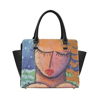 Interestprint Custom Funky Abstract Art Shoulder Bag Purse Handbag ... fb868a9da3
