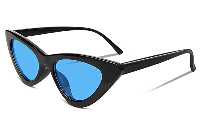 fae8aeee33 Image Unavailable. Image not available for. Color  FEISEDY Vintage Cat Eye  Women Sunglasses UV400 Protection B2279