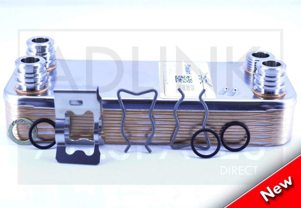 Vaillant Turbomax pro 28E & Vuw 282-3 Acs Intercambiador de Calor (207mm Largo) 065088