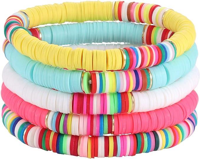 Tween Girl Gifts Mama Bracelet Stack Custom Bead Bracelet Women Heishi Name Bracelet Gifts Under 20 Friendship Bracelet Mantra Jewelry