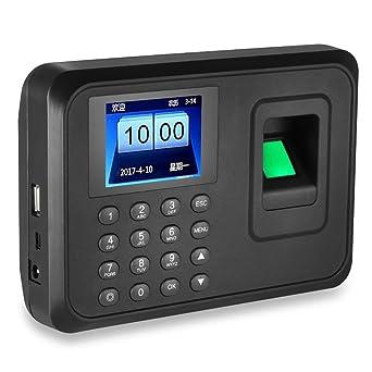 LIBO Máquina de Asistencia Biométrica de Huellas Dactilares Huella dactilar Hora Reloj Sistema, 2.4 pulgadas