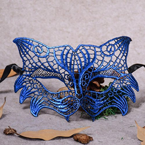 Masquerade Lace Mask Catwoman Halloween Cutout Prom Party Mask Accessories,Tuscom -