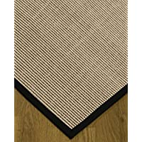 NaturalAreaRugs Blair Custom Sisal Rugs 2 6 x 10 Midnight-Blue Border