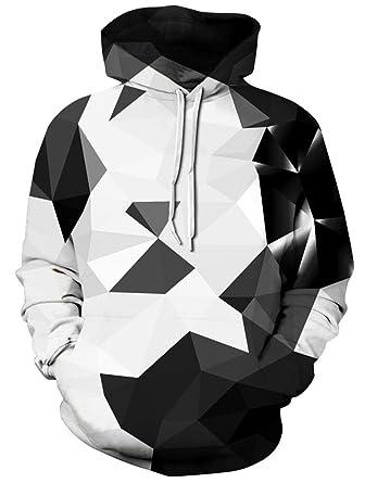 AMOMA 2018Design Jungen digitaldruck Kapuzenpullover Fashion Hoodie For  Herren und Damen (Small/Medium,
