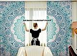 Ombre Mandala Tapestry Curtain Indian 2 Valances Drape Panel Boho Decor Window Curtain Indian Drape Handmade Curtain Tapestry Throw By Handicraft-Palace Review