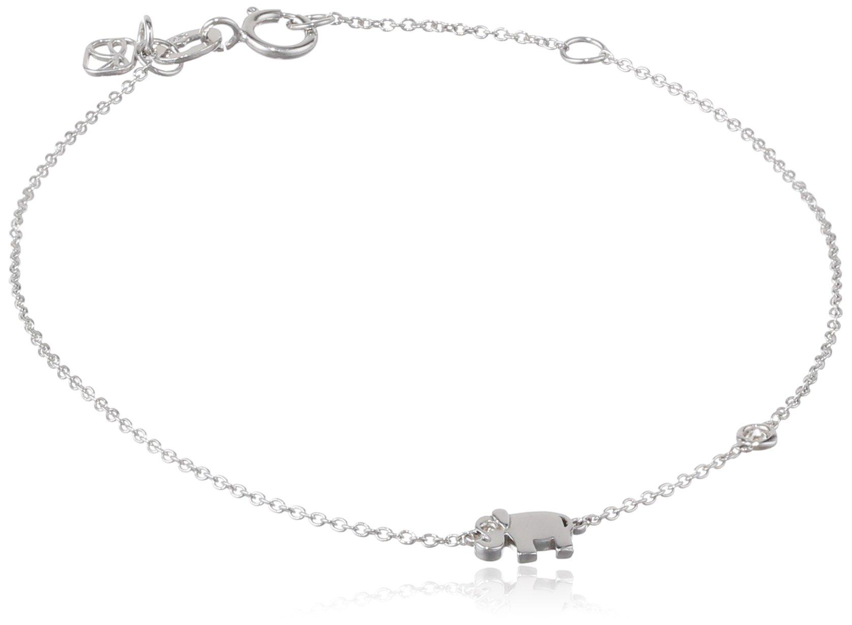 Shy by SE Elephant Bracelet with Bezel Set and Burnished Diamond
