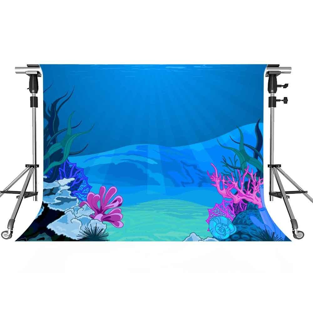 UnderwaterバックドロップCartoon写真背景meetsioy 7 x 5ftテーマパーティー写真ブースYoutube Backdrop gemt1296   B07FY5QX3N