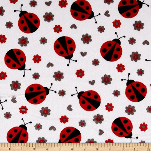 - Shannon Fabrics Shannon Minky Cuddle Lady Bug Scarlet Fabric by The Yard,