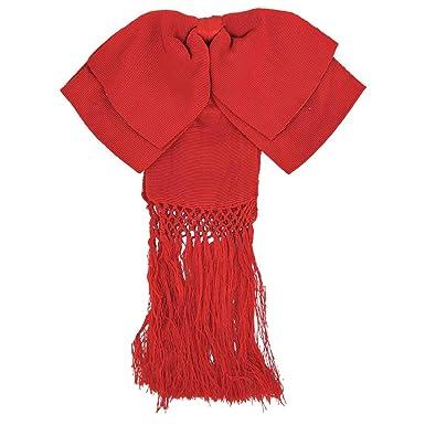 MEXIMART Pajarita mexicana con diseño de mariachi, color rojo ...