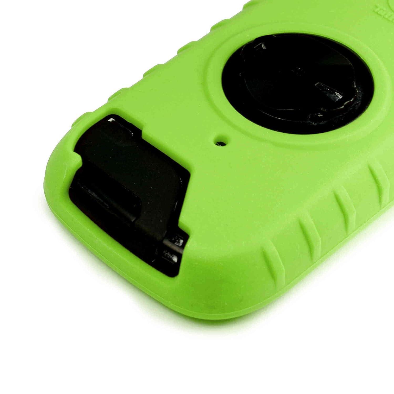Vert Tuff-luv Combo//Kit 3 in 1 /Étui de protection en silicone et protecteur d/écran Fixation Avant//Ordinateur de Guidon Support mount pour Garmin Edge 1000 with Out-Front Handlebar Mount