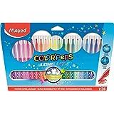 Maped - estuche de 24 lápices de colores triangulares colorpeps. mina blanda y resistente.: Amazon.es: Oficina y papelería