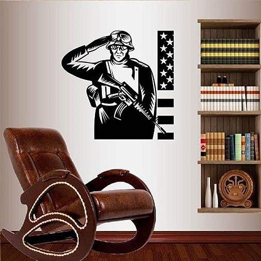YuanMinglu Saludo Bandera Americana Ejército Soldado Militar Sala ...