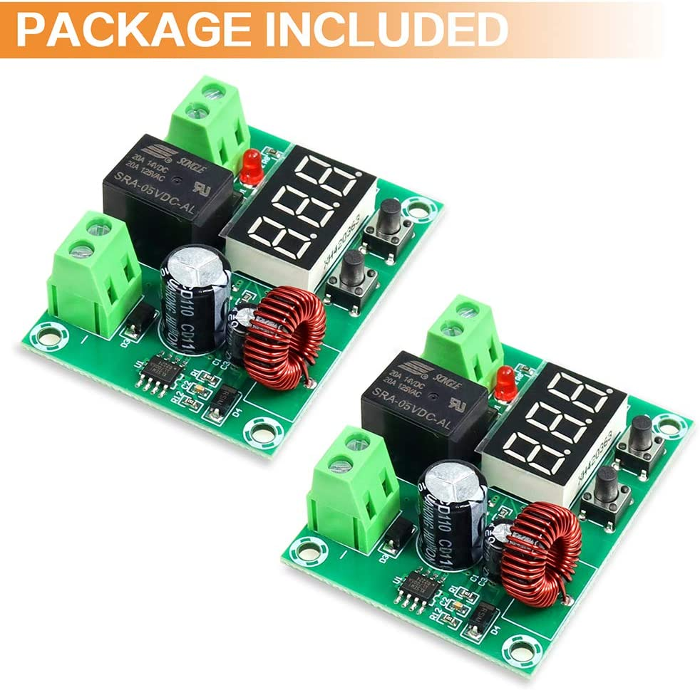 FIXITOK Voltage Protection Module Digital Low Voltage Protector Low Voltage Cutoff Disconnect Module for 12-36V Lithium Battery : Garden & Outdoor