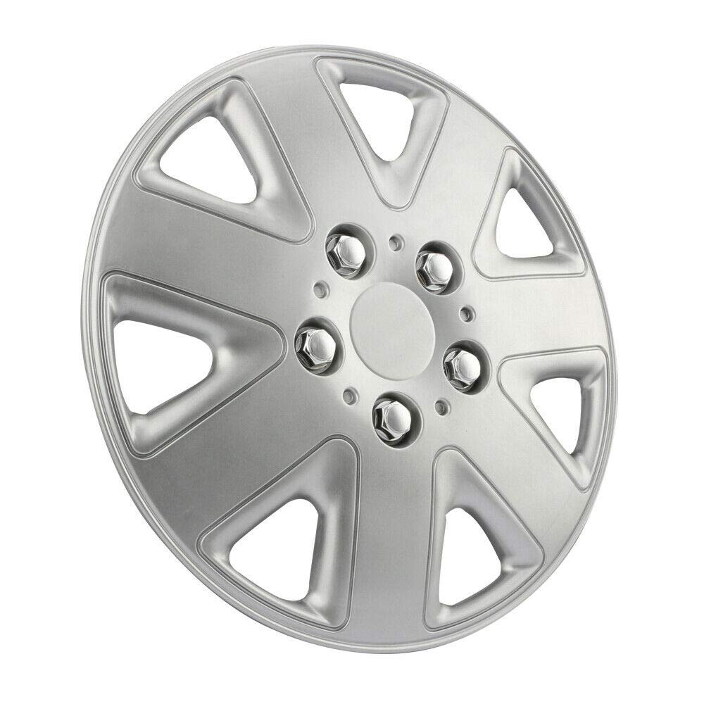 Good shop us SET OF 4 x 14INCH ALLOY LOOK CAR WHEEL TRIMS//COVERS//SILVER 14 HUB CAPS
