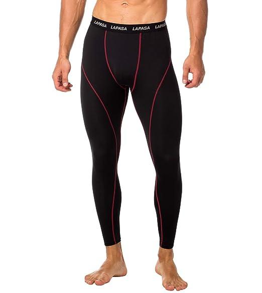 e310e12f36b Amazon.com  LAPASA Men s Workout Compression Pants (Tights)