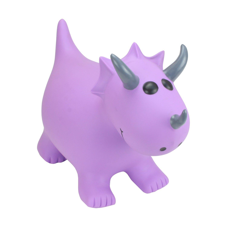 HappyHopperz Violet Tricératops–Ride on Hopper