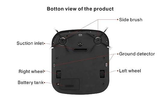 Haehne Robot Aspirador R-Cruiser, con Control Remoto, Limpiador de Barrido Automático de Alfombras para Pisos, Cuerpo Ultra Delgado de 2,95 cm, Limpieza del ...