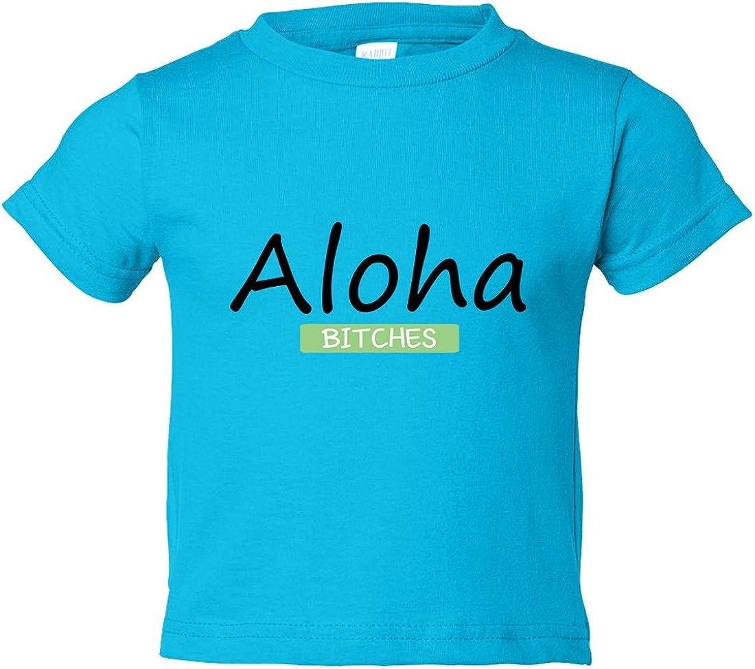 "Funny Threadz Kids Funny Aloha Youth /""Aloha Bitches/"" Toddler Shirt Kids"