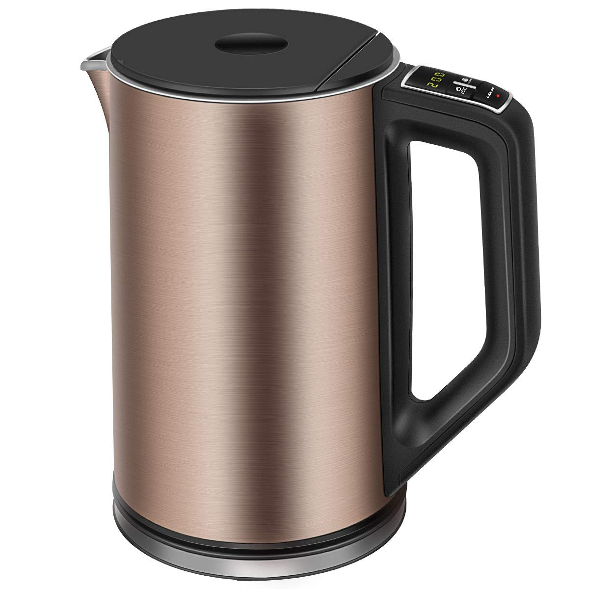 Electric Kettle Temperature Control, CUSIBOX 1.5L Cool Touch Water Kettle Double Wall Stainless Steel with Keep Warm Function, 1500W