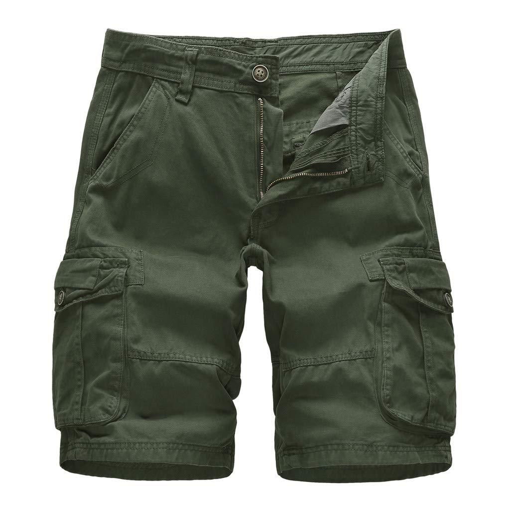 Premium Mens Board Shorts, Summer Beach Shorts Cotton Comfy Swim Shorts Casual Swim Trunks (30, Army Green)