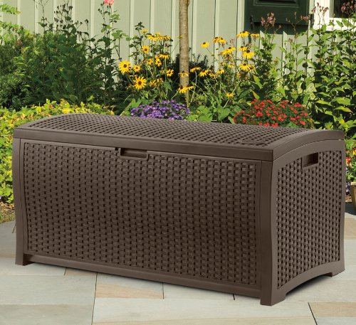 NEW Durable 73-Gallon Stay Dry Design Patio Storage Deck Box Container