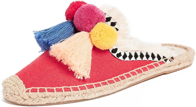 Soludos Coco Pompom Canvas Mule