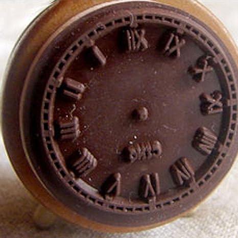 Junbuoom - Mini reloj despertador de madera con sello de ...
