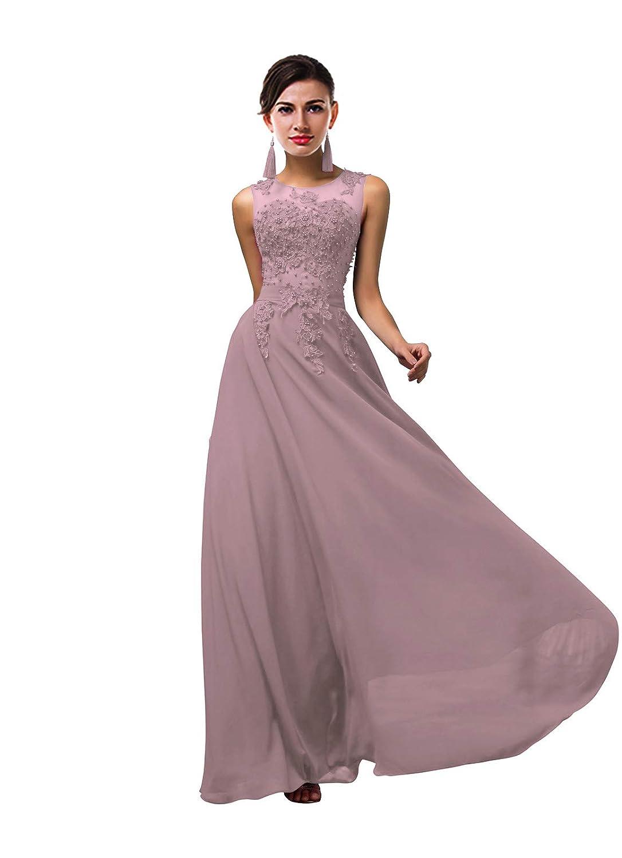 Vintage Mauve CaliaDress Women Tulle Appliques Long Bridesmaid Dress Prom Evening Gowns C002LF