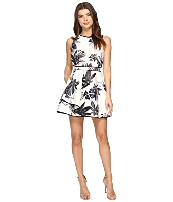 f2c8e229b9 KEEPSAKE THE LABEL Women s Coming Home Mini Dress Abstract Floral Print  Dress at Amazon Women s Clothing store