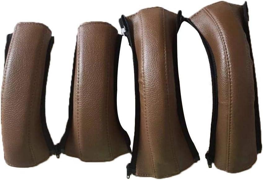 Anti-Breakage Anti-wear GSNML Baby Pushchair Handle Covers PU Leather Stroller Armrest Baby Stroller Handle Protector Waterproof Baby Buggy Armrest Handle Stroller Armrest with Zip Anti-Dirty