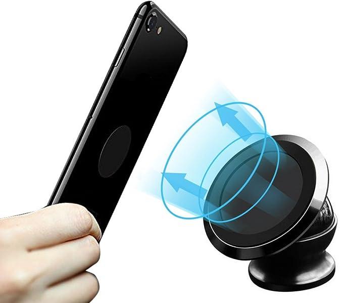 Soporte de Coche Magnético,360° Pelota Soporte para teléfono Soporte Auto para iPhone X 8 7 6s 6 plus 5 5s Samsung Sony HTC LG: Amazon.es: Electrónica
