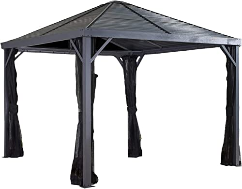 Sojag 8' x 8' Sanibel I Hardtop Gazebo Outdoor Sun Shelter