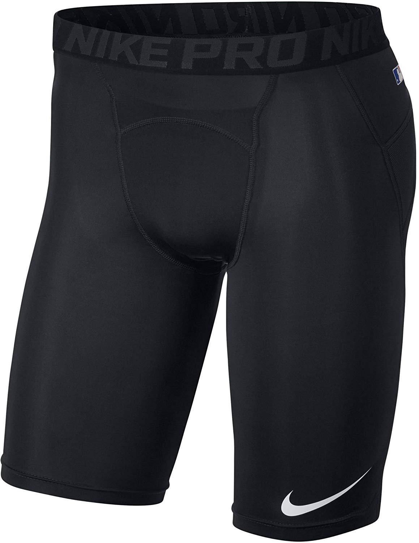 Nike Men's Pro Heist Dri-FIT Baseball Sliding Shorts (Black/Black, S) by Nike