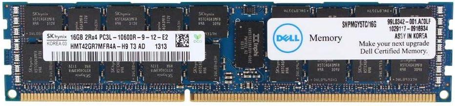 MGY5T Dell 16gb Ddr3 1333mhz Pc3-10600l 2rx4 Ecc Dimm Memory