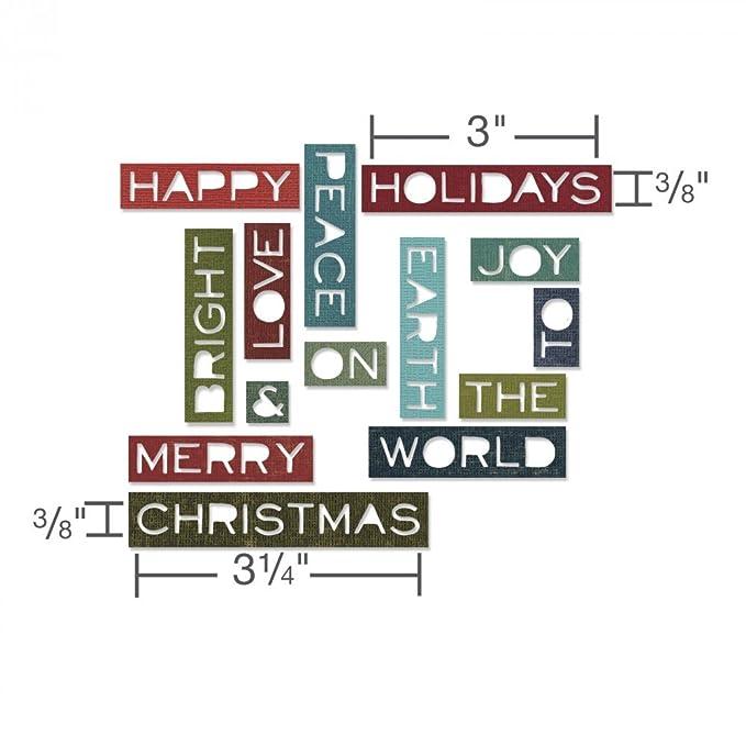 Juego de Troquelado, Sizzix Holiday Words 12 Unidades Thin by Tim Holtz