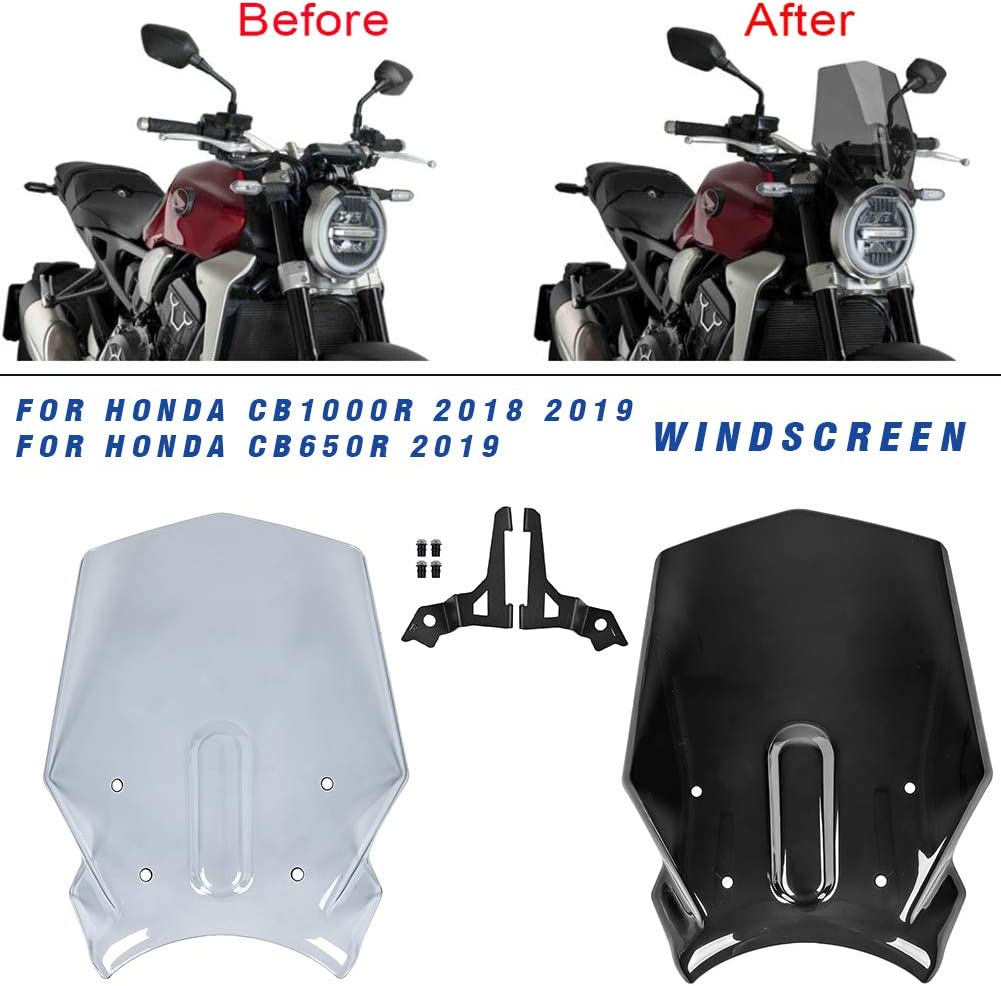 fumo Lorababer Parabrezza del motociclo del parabrezza per H-o-n-d-a CB1000R 2018 2019 CB650R CB 1000 R CB 1000R 18 19