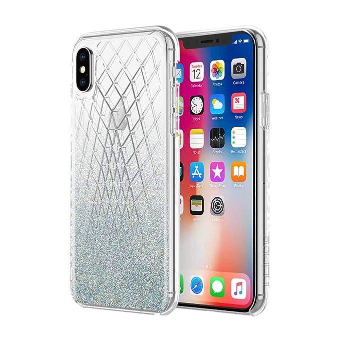 new product 2dda6 f707a Amazon.com: Incipio Silver Bleu Sparkler iPhone X Case [Design ...