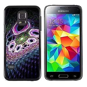 iKiki Tech / Estuche rígido - Abstract Purple - Samsung Galaxy S5 Mini, SM-G800, NOT S5 REGULAR!