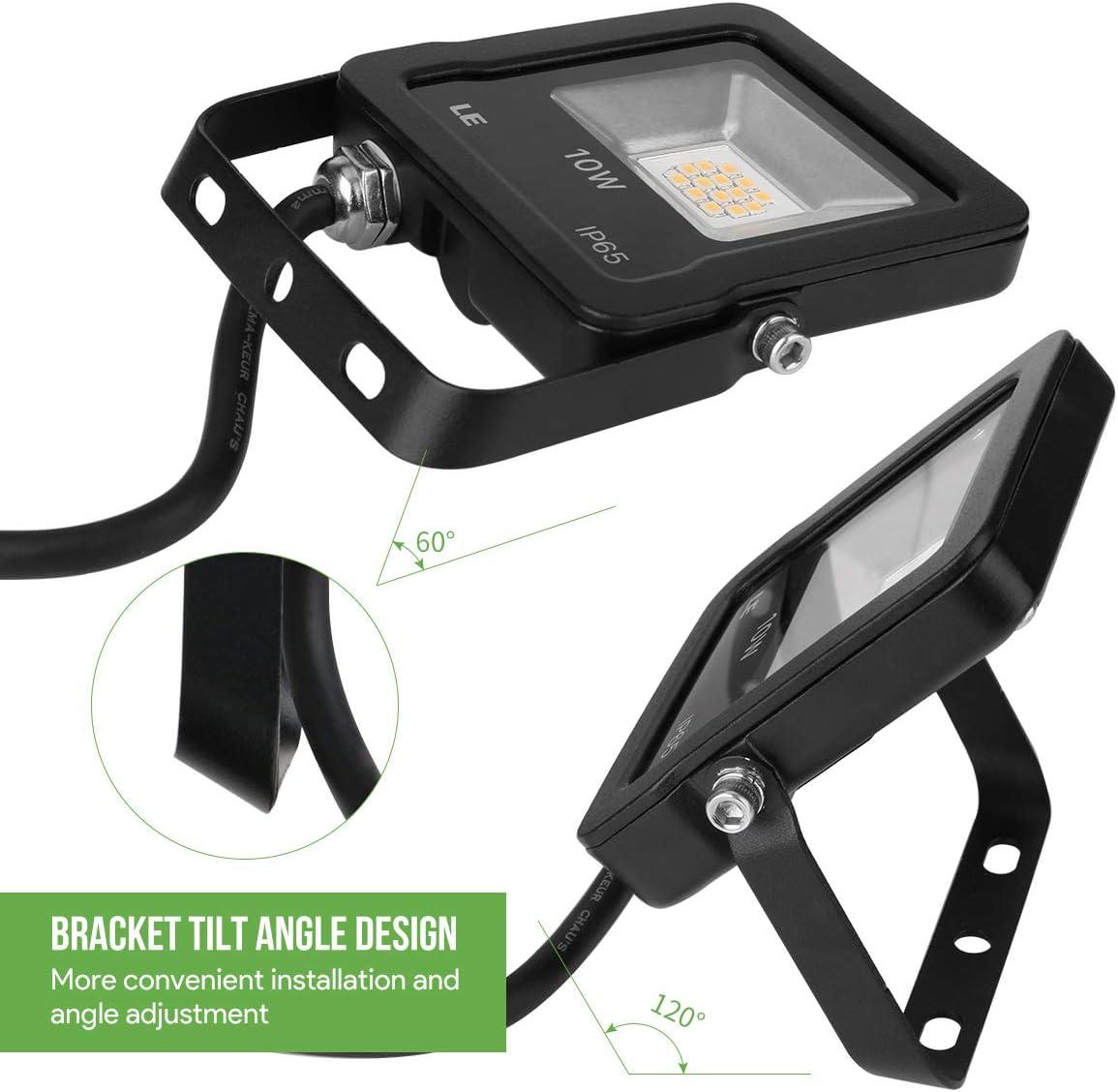LED Flutlicht 100W 50W 30W 20W 10W Ultrad/ünner Wei/ßer Reflektor Flutlichtscheinwerfer 230V IP68 Wasserdichte Au/ßenbeleuchtung,10W Kaltwei/ß