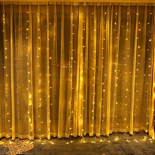DLIUZ UL Safe 304 LED 9.8Feet Connectable Curtain Lights Icicle Lights Fairy String Lights with 8 Modes for Wedding Party Family Patio Lawn Decoration by DLIUZ