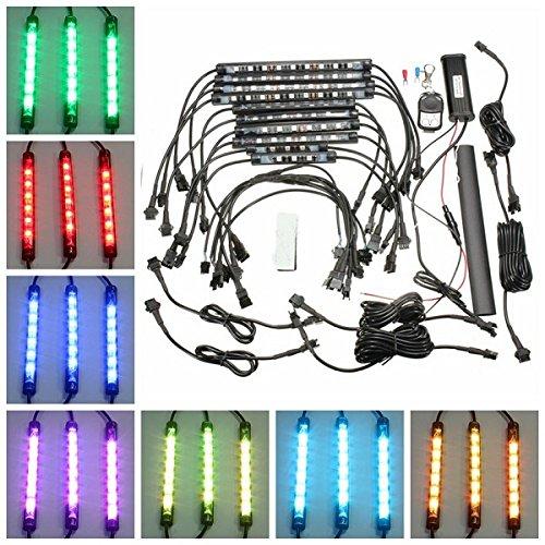 HITSAN 10pcs Waterproof RGB LED Flexible NEON Strip Light Kit For Motorcycle Auto ATV One Piece by HITSAN (Image #4)